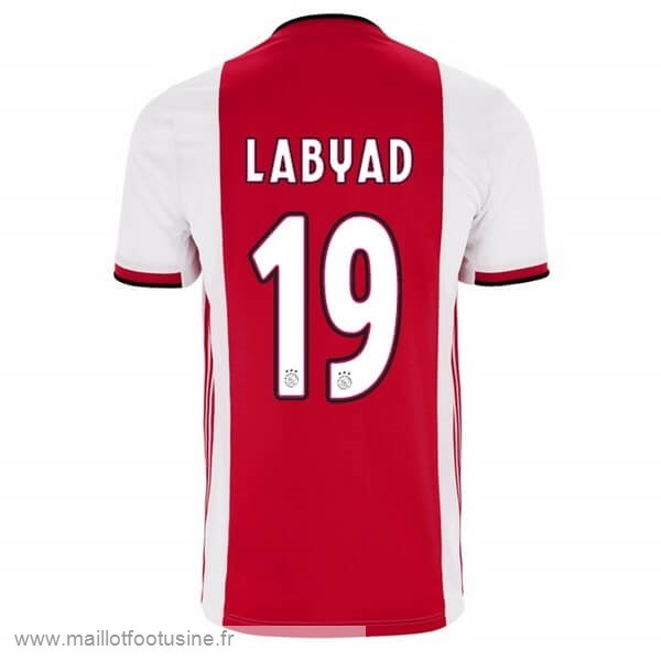 NO.19 Labyad Domicile Maillot Ajax 2019 2020 Rouge Discount