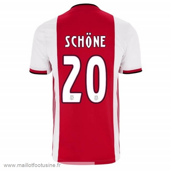 NO.20 Schone Domicile Maillot Ajax 2019 2020 Rouge Discount