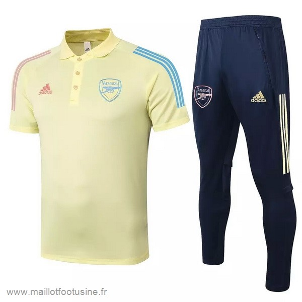 Ensemble Complet Polo Arsenal 2020 2021 Jaune Discount
