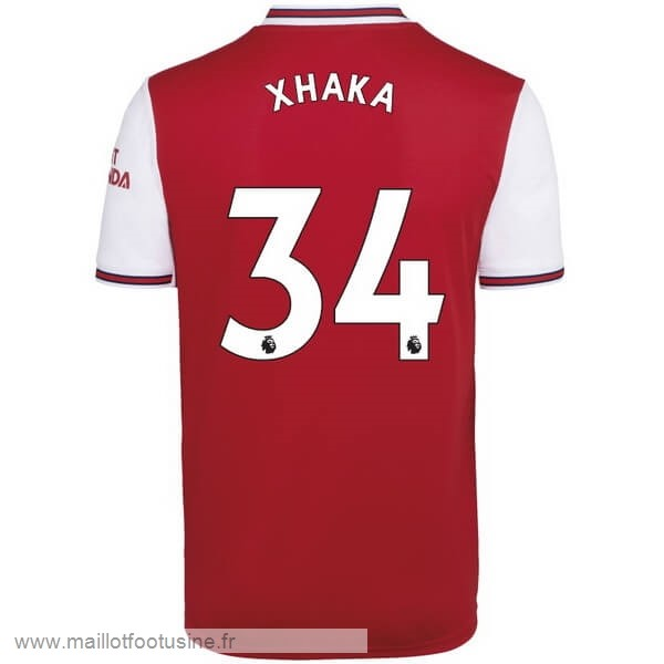NO.34 Xhaka Domicile Maillot Arsenal 2019 2020 Rouge Discount