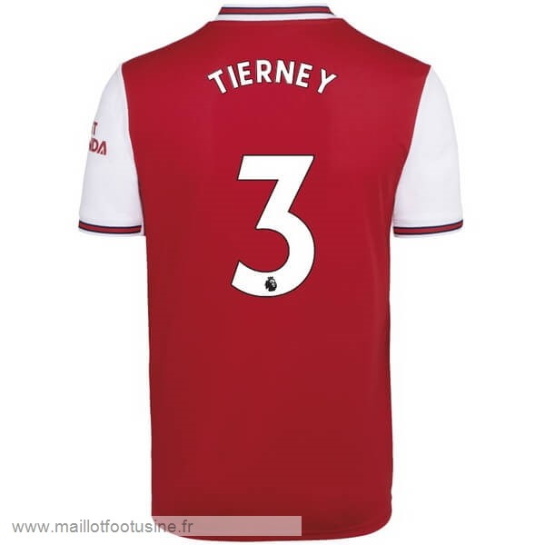 NO.3 Tierney Domicile Maillot Arsenal 2019 2020 Rouge Discount