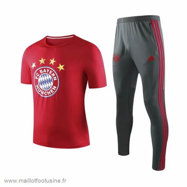 Entrainement Conjunto Completo Bayern Munich 2019 2020 Rouge Gris Discount