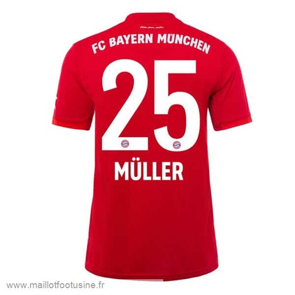 NO.25 Muller Domicile Maillot Bayern Munich 2019 2020 Rouge Discount