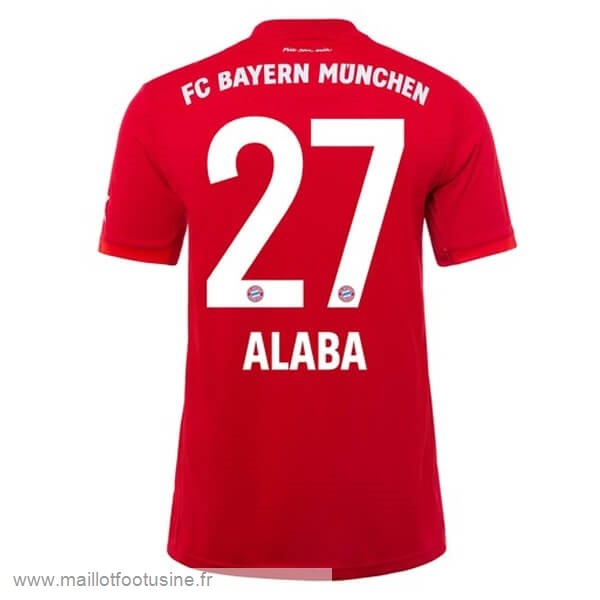 NO.27 Alaba Domicile Maillot Bayern Munich 2019 2020 Rouge Discount