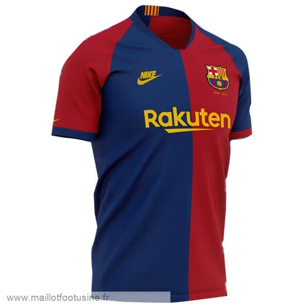 Domicile Maillot Barcelone 120th Bleu Rouge Discount