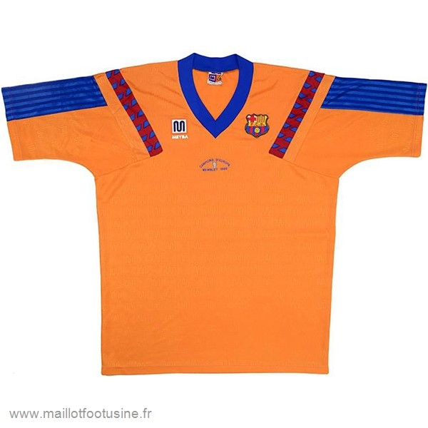Exterieur Maillot Barcelona Rétro 1991 1992 Orange Discount