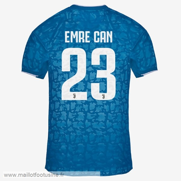 NO.23 Emre Can Third Maillot Juventus 2019 2020 Bleu Discount