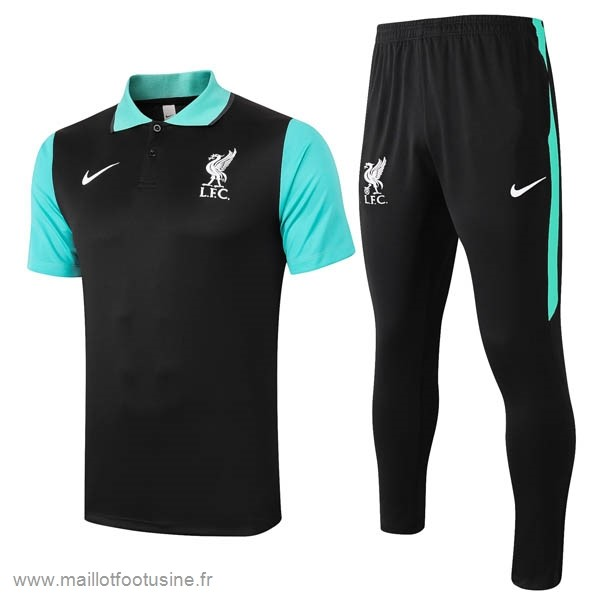 Ensemble Complet Polo Liverpool 2020 2021 Noir Vert Discount