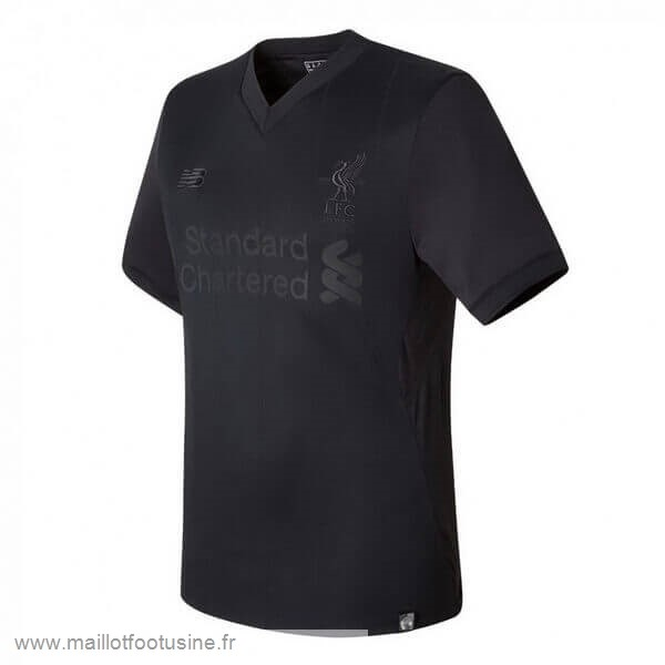 """PITCH BLACK"" Maillot Liverpool 125th Noir Discount"
