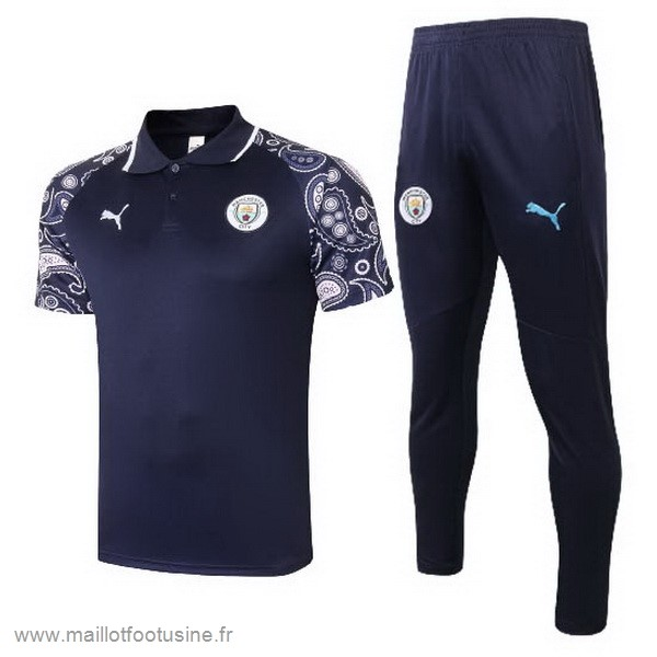 Ensemble Complet Polo Manchester City 2020 2021 Purpura Noir Discount