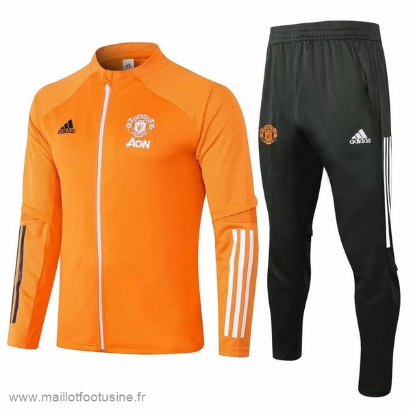 Survêtements Manchester United 2020 2021 Orange Discount