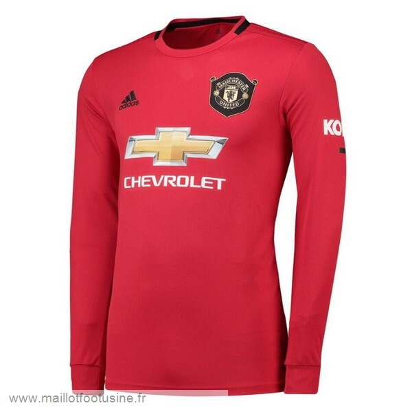 Domicile Manches Longues Manchester United 2019 2020 Rouge Discount