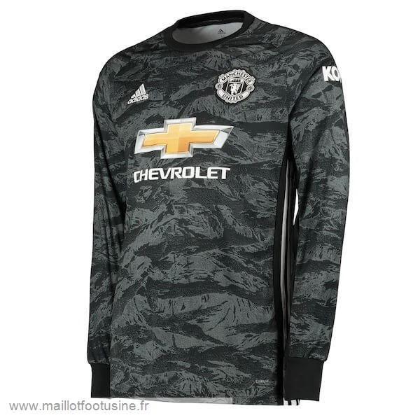 Manches Longues Gardien Manchester United 2019 2020 Gris Discount