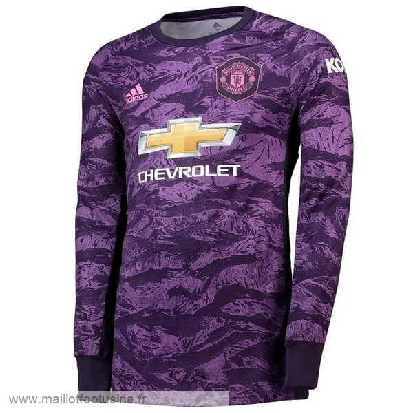 Manches Longues Gardien Manchester United 2019 2020 Purpura Discount