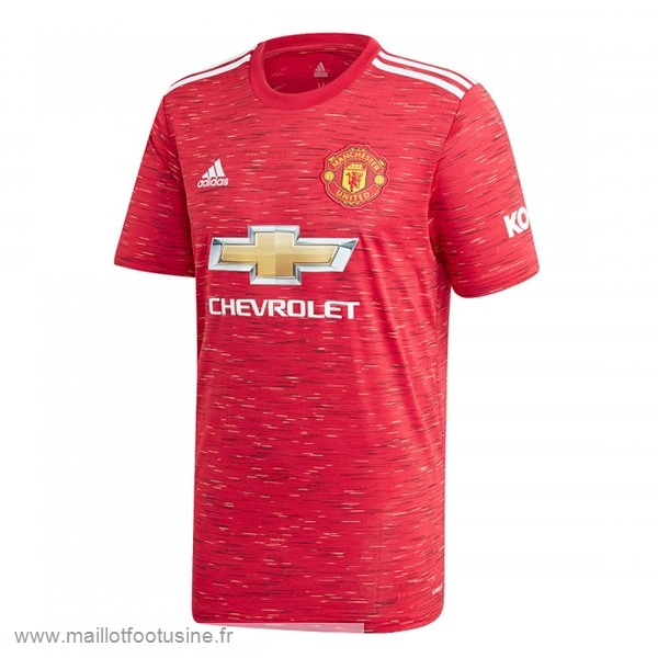 Thailande Domicile Maillot Manchester United 2020 2021 Rouge Discount