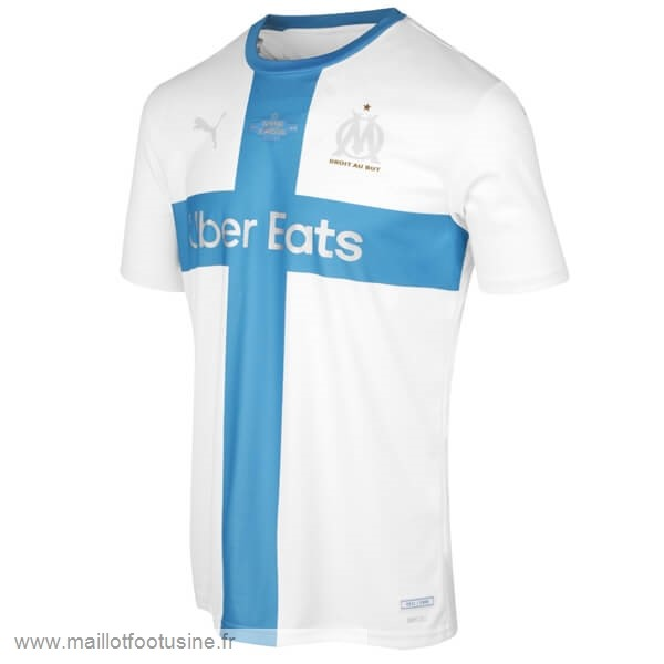 Maillot Marseille 120th Bleu Blanc Discount