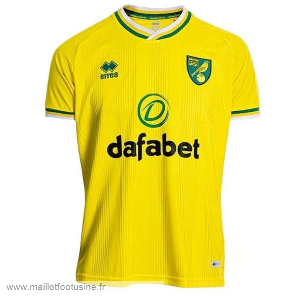 Domicile Maillot Norwich City 2020 2021 Jaune Discount
