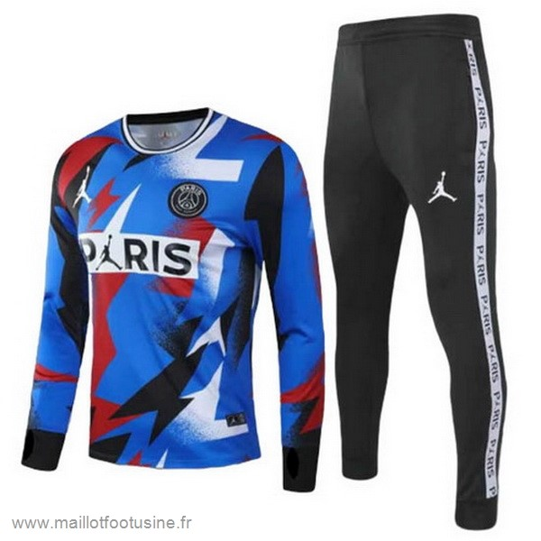 Survêtements Paris Saint Germain 2020 2021 Bleu Noir Discount