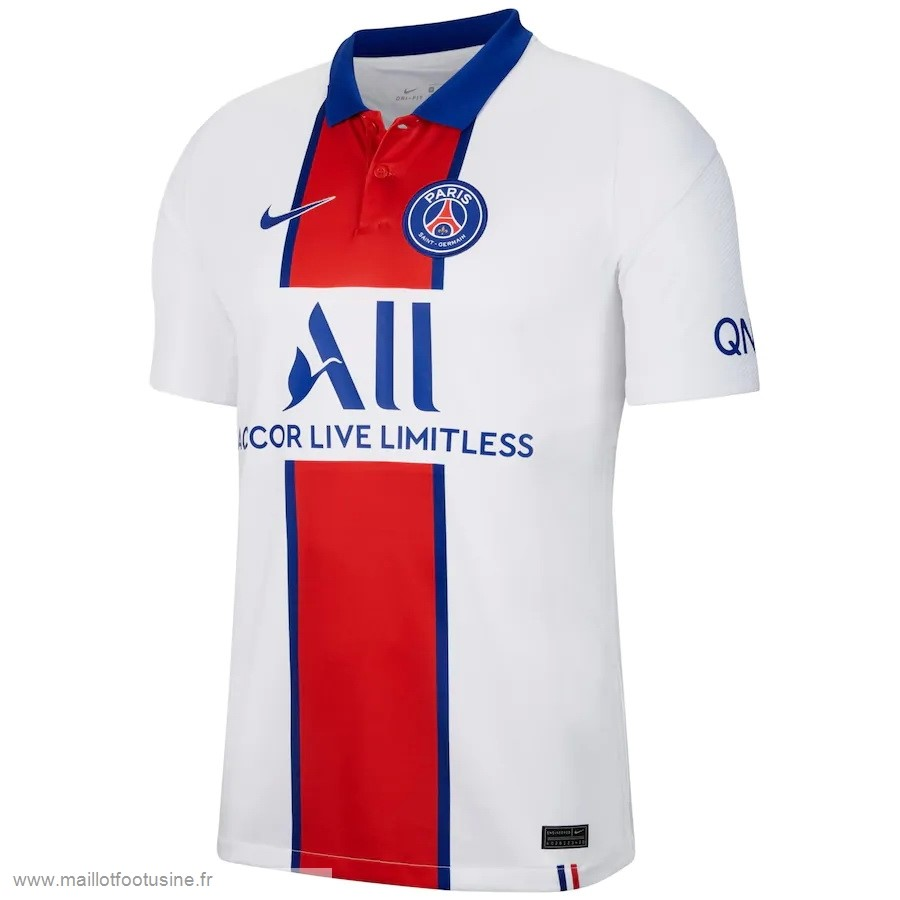 Exterieur Maillot Paris Saint Germain 2020 2021 Blanc Discount
