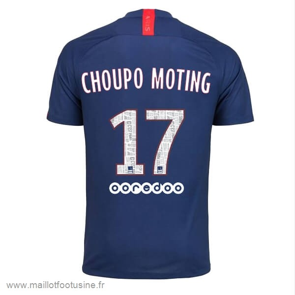 NO.17 Choupo Moting Domicile Maillot Paris Saint Germain 2019 2020 Bleu Discount
