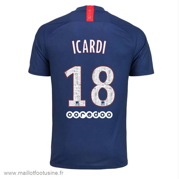 NO.18 Icardi Domicile Maillot Paris Saint Germain 2019 2020 Bleu Discount