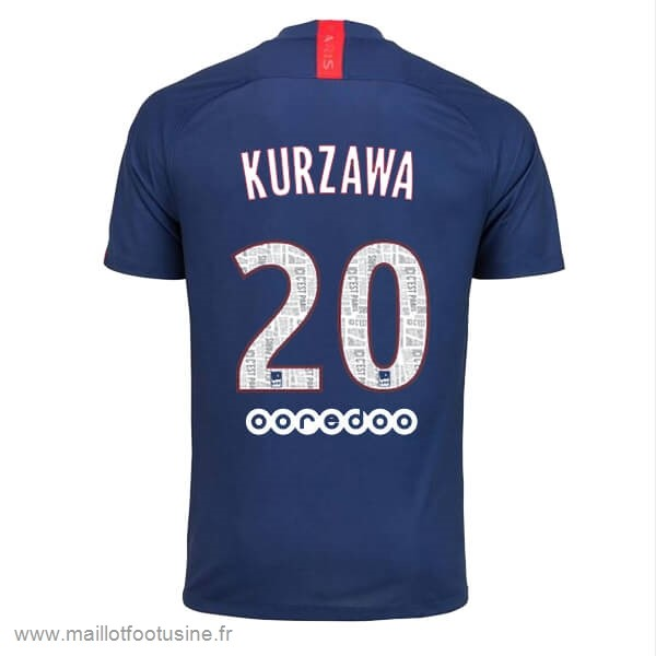 NO.20 Kurzawa Domicile Maillot Paris Saint Germain 2019 2020 Bleu Discount