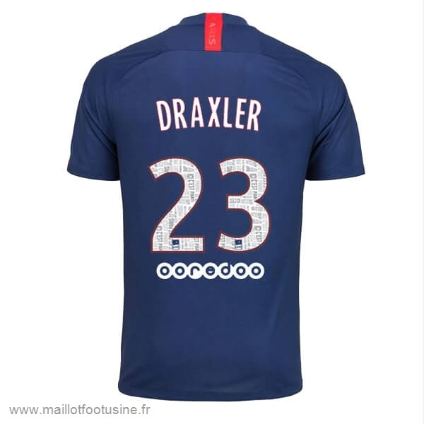 NO.23 Draxler Domicile Maillot Paris Saint Germain 2019 2020 Bleu Discount