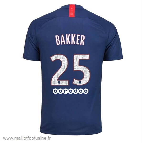 NO.25 Bakker Domicile Maillot Paris Saint Germain 2019 2020 Bleu Discount