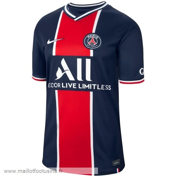 Thailande Domicile Maillot Paris Saint Germain 2020 2021 Bleu Discount