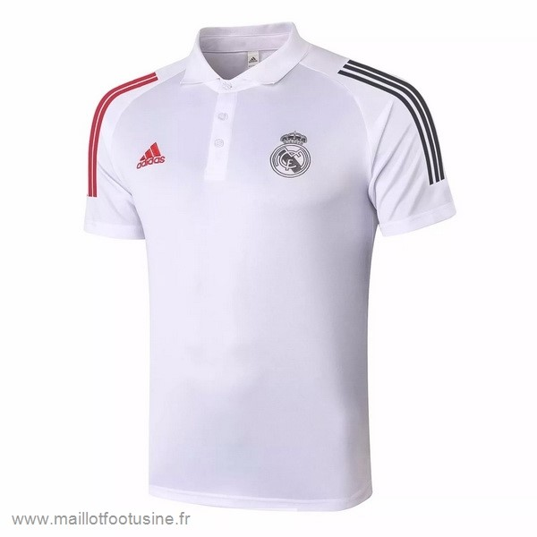 Polo Real Madrid 2020 2021 Blanc Rouge Discount