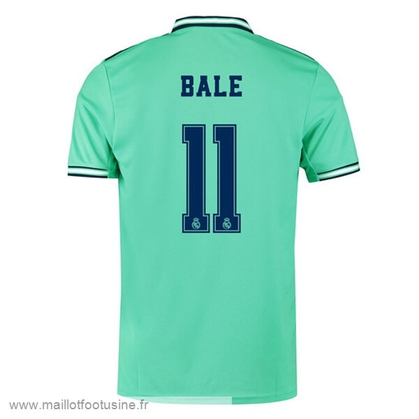 NO.11 Bale Third Maillot Real Madrid 2019 2020 Vert Discount