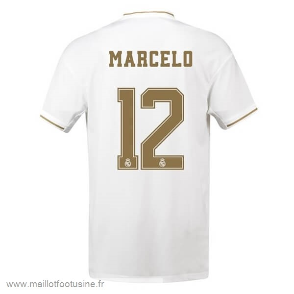 NO.12 Marcelo Domicile Maillot Real Madrid 2019 2020 Blanc Discount