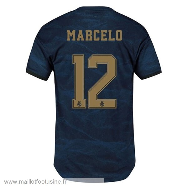 NO.12 Marcelo Exterieur Maillot Real Madrid 2019 2020 Bleu Discount