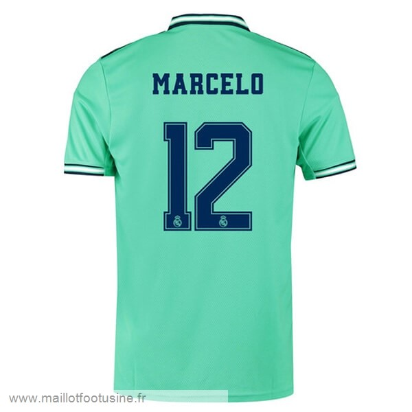 NO.12 Marcelo Third Maillot Real Madrid 2019 2020 Vert Discount