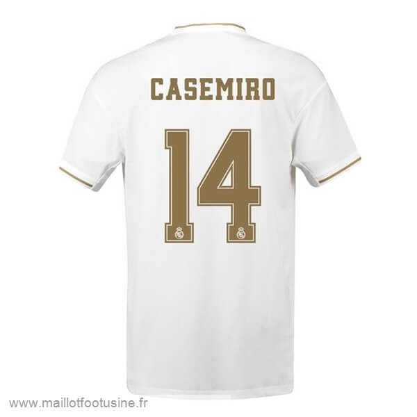 NO.14 Casemiro Domicile Maillot Real Madrid 2019 2020 Blanc Discount