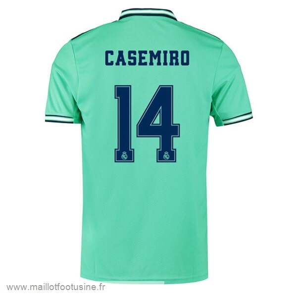 NO.14 Casemiro Third Maillot Real Madrid 2019 2020 Vert Discount