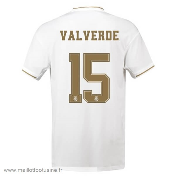 NO.15 ValVert Domicile Maillot Real Madrid 2019 2020 Blanc Discount