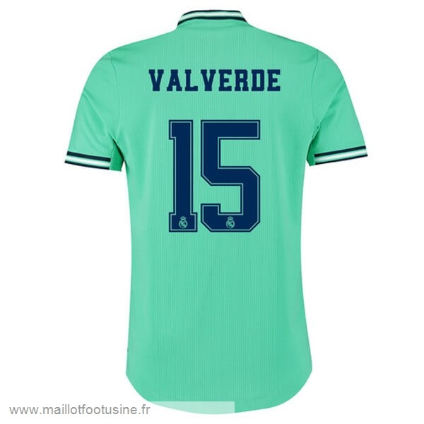 NO.15 ValVert Third Maillot Real Madrid 2019 2020 Vert Discount