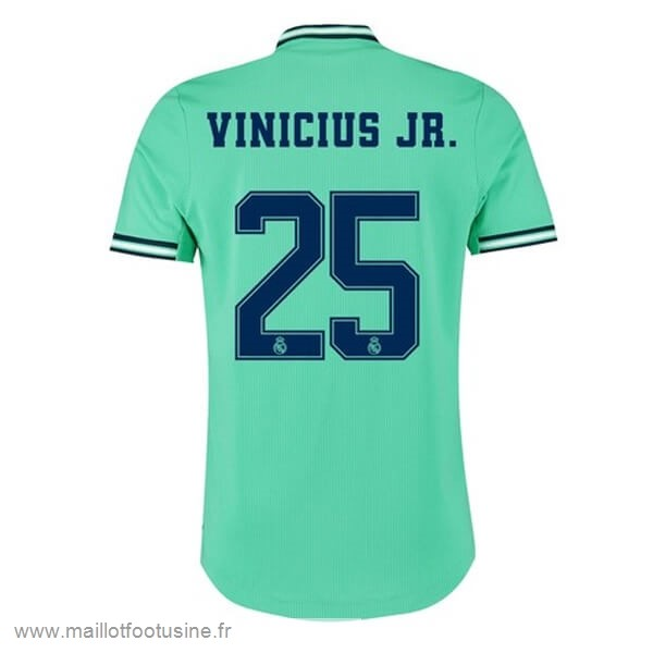 NO.25 Vinicius JR. Third Maillot Real Madrid 2019 2020 Vert Discount