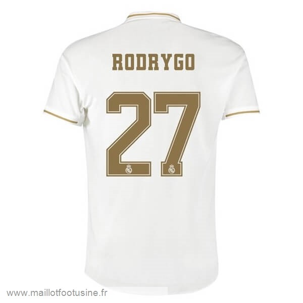 NO.27 Rodrygo Domicile Maillot Real Madrid 2019 2020 Blanc Discount