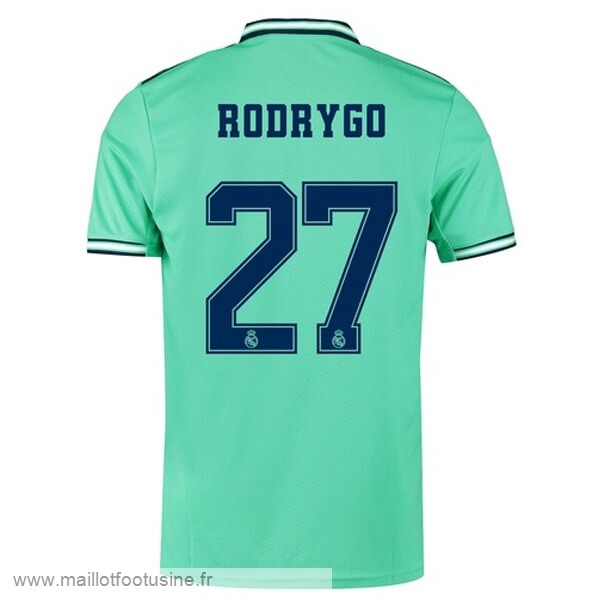NO.27 Rodrygo Third Maillot Real Madrid 2019 2020 Vert Discount