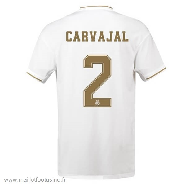NO.2 Carvajal Domicile Maillot Real Madrid 2019 2020 Blanc Discount