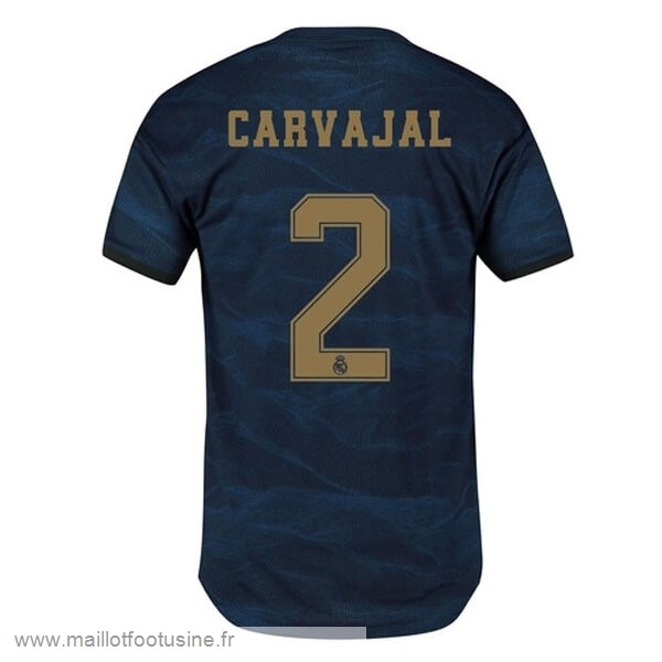 NO.2 Carvajal Exterieur Maillot Real Madrid 2019 2020 Bleu Discount
