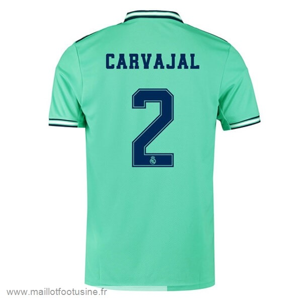 NO.2 Carvajal Third Maillot Real Madrid 2019 2020 Vert Discount