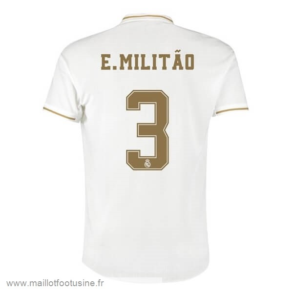 NO.3 E.Militão Domicile Maillot Real Madrid 2019 2020 Blanc Discount