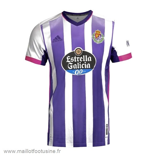 Domicile Maillot Real Valladolid 2020 2021 Blanc Purpura Discount